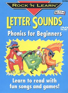 Rock N Learn   Letter Sounds Phonics For Beginners DVD, 2003