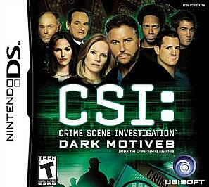 CSI Crime Scene Investigation Dark Motives Nintendo DS, 2007