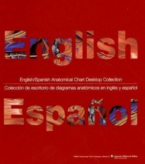English Spanish Anatomical Chart Desktop Collection Coleccion de