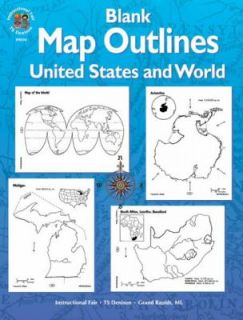 Blank Map Outlines by Instructional Fair 1999, Paperback