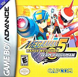 Mega Man Battle Network 5 Team Protoman Nintendo Game Boy Advance
