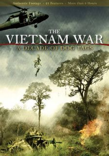 The Vietnam War A Decade of Dog Tags DVD, 2011, 2 Disc Set
