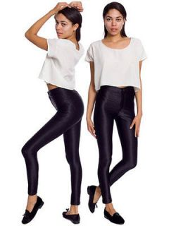 New Genuine American Apparel Disco Pants BLACK S 8 10 Skinny Trousers