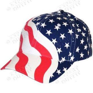 BASEBALL CAP American USA Flag ADJUSTABLE HAT BRAND NEW WHOLESALE SALE