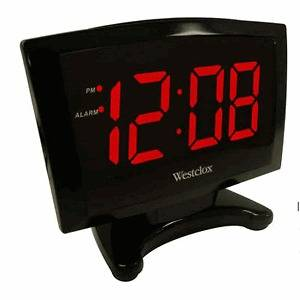 Large LED Display Alarm Clock  Hi/Low Alarm Option Battery Backup