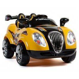 Seater Morgan Electric Ride On Car With RC   Yellow, Battery Powered