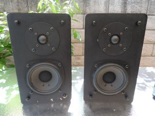 Vintage ESS Bookshelf Speakers Polydax Pair Excellent