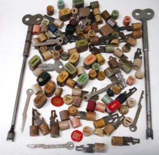 Over 100 Pieces National Cash Register Buttons keys tools Numbers