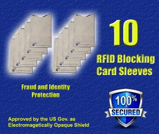 Newly listed 10 RFID Credit Card Secure Sleeve Protector Shields