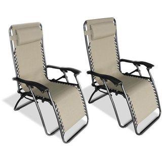 Zero Gravity Chairs Caravan Canopy Lounge Outdoor Camping Deck