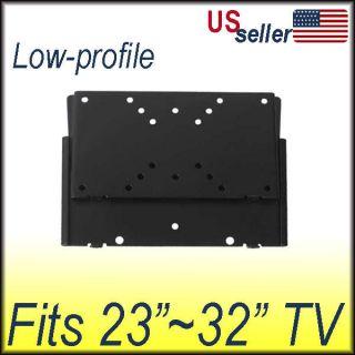 Plasma LCD LED Flat Panel Screen Low Profile TV Wall Mount Bracket 23