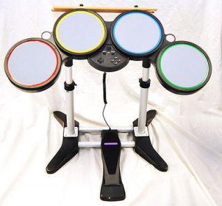 Wii ROCK BAND Wireless Drum Set kit 1 2 3 hero Beatles AC/DC guitar