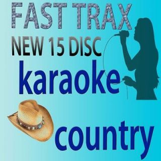 KARAOKE CDG FAST TRAX HOTTEST COUNTRY SONGS IN 15 DISC+1 QUIK HITZ