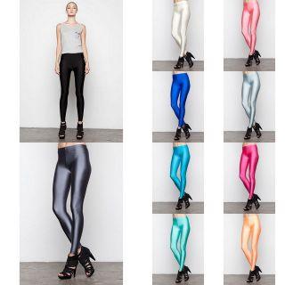 LILY WANG JANEY Neon Leggings in Multi Neon Metallic Colors (LW P2064