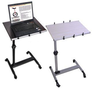 Mobile Rolling Laptop Adjustable Stand Desk Notebook Portable Table