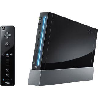 Nintendo Wii Black Console (NTSC) Plus 2 Games & FREE Controller