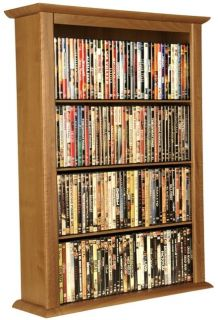 Black 1026 CD/DVD Wall Mount Media Storage Rack/Shelf
