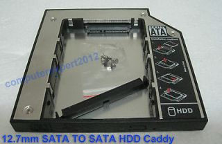 12.7mm SATA 2nd HDD Hard Driver Caddy for DVD CD ROM Optical Drive Bay