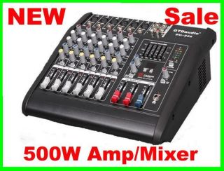 Channel 1000W Professional Powered Mixer power mixing Amplifier Amp