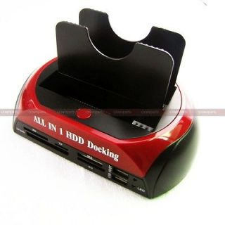 NEW IDE SATA HDD HARD DRIVE DOCK STATION USB HUB TF MS SD XD CF MD
