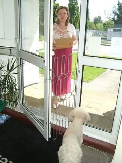 New Retractable Steel Pet Dog Baby Security Safety Stop Gate Barrier