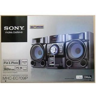 Sony MHC EC709iP iPhone/ iPod Cradle Mini Hi Fi Shelf System