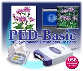Brother PED Basic Embroidery Software for Downloading Embroidery