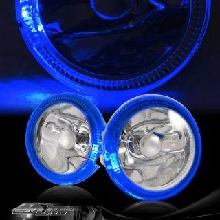 Universal 4 Blue Angel Eyes Chrome Housing Bumper Fog Light Lamp
