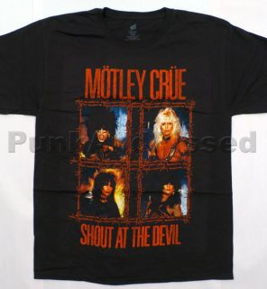 Motley Crue   Shout At the Devil wired t shirt   Official   FAST SHIP