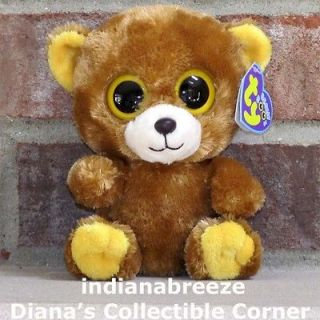 HONEY 6 Brown Bear 2012 ~ Ty Beanie Baby Boos ~ NEW ~ Ready to Ship