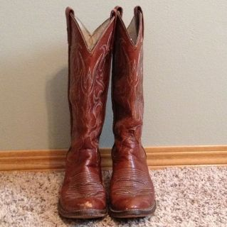 Dan Post Womens Brown Leather Cowboy Boots 5.5C Pre Owned