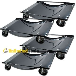 Heavy Duty Set of (4) Car Moving Dolly With HD Wheels Skate Lifter