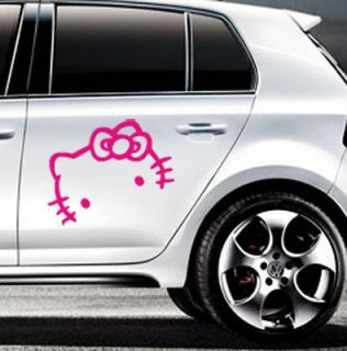 Kitty Logo Face Car Motor Truck Auto Vinyl Sticker Graphic Decal #M