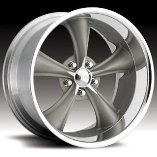 Boss Motorsports style 338 wheels rims, 20x8.5, 5x5, +14mm, gray