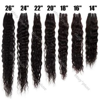 Natural Color Deep Wave Wavy Curly Real Human Hair Weaving Weft