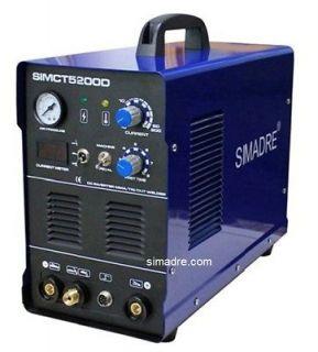 SIMADRE CT5200D 50A PLASMA CUTTER 200A TIG/MMA/ARC WELDER & 25 SG 55
