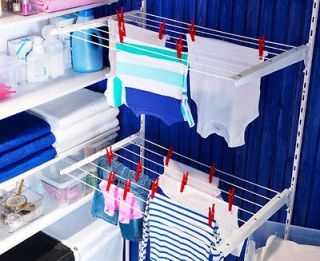 ikea wall mounted clothes drying laundry rack adjustable foldable. Black Bedroom Furniture Sets. Home Design Ideas
