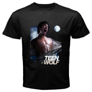 New Teen Wolf TV Series Tyler Posey Mens Black T Shirt Size S   2XL