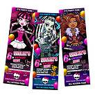 MONSTER HIGH BIRTHDAY PARTY INVITATION TICKET 1ST   c2   customizable