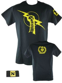 CM Punk Uprising T shirt and Nexus Armband Package