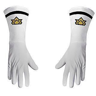 Sabans Power Rangers Deluxe Samurai White Gloves Costume Accessory
