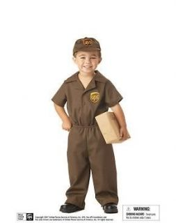 Toddler Boys UPS Postal Service Mail Man Costume