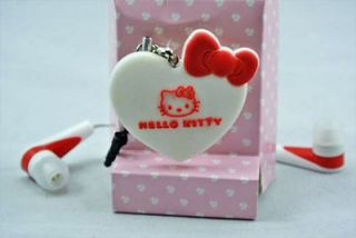 Ear Headphones iphone4/4S Ear With Microphone Voice hello kitty