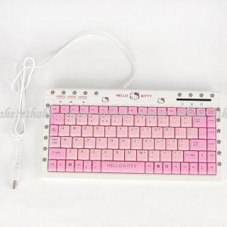 Hello Kitty Mini USB Laptop PC Keyboard Keypad E2EA2O