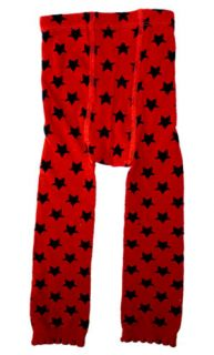 Sourpuss Red/Black Stars Leggings Tights Punk Rockabilly Toddler