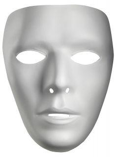 BLANK WHITE ADULT MEN WOMEN FEMALE MALE MASK DRAMA COSTUME FACE MASK