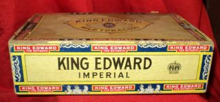 Edward the Seventh VII Imperial Cigar Box 6 cent Factory 15 Georgia
