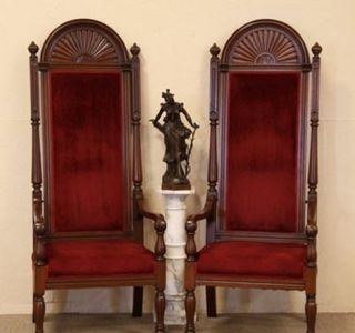 Newly listed Pair of Throne Chairs