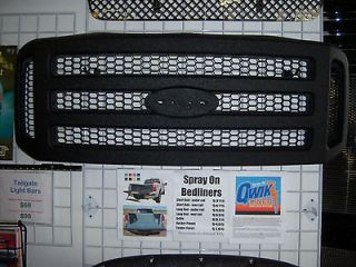 05 07 Ford F250 Grille coated in Qwikliner (durable spray on bedliner
