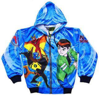 BEN 10 Alien Force Ultimate JACKET Blue Coat Top Kids Boys Clothes NEW